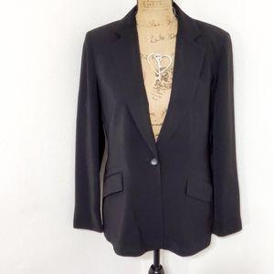 🟣Jones New York•suit•black, singlebutton•sz.10•